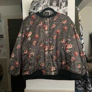 Puffy Floral 🌺 Bomber Jacket 🧥